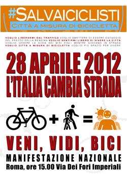 Manifestazione Biciclette Roma 28 Aprile